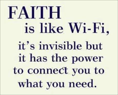 faith will see you through the toughest times