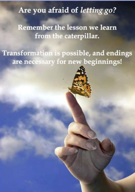 Transformation is possible if you can let go
