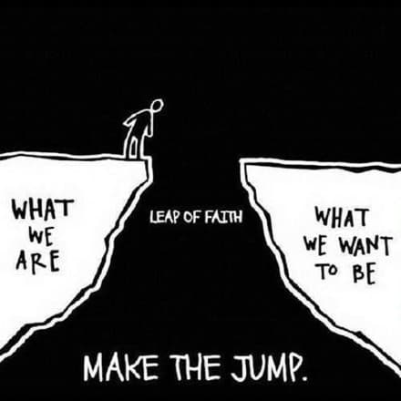 Where you are and where you want to be - make the jump!