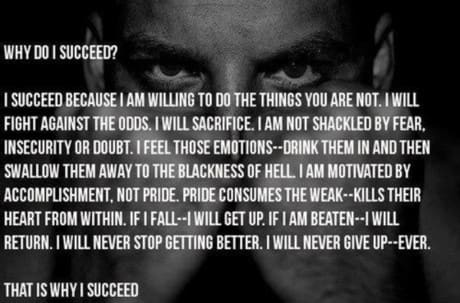 I will succeed, no matter what!
