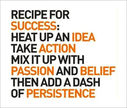 Recipe For Success.