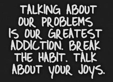 words to help us remember to talk about the joys in our life