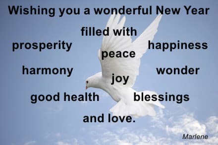 My New Year Wishes for You! Peace, love, joy, prosperity and many more. - From MotivateUs.com